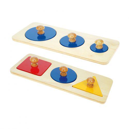 Multiple shape puzzle set