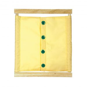 Buttoning Frame with large buttons